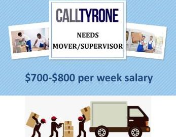 SUPERVISOR/DRIVER/MOVER WANTED 15-20hr (Rochester, NY)
